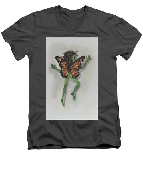 Butterfly Fairy Men's V-Neck T-Shirt