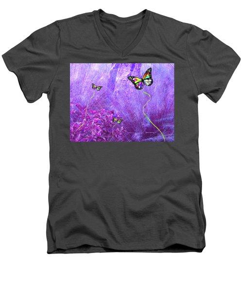 Butterfly Fantasy Men's V-Neck T-Shirt