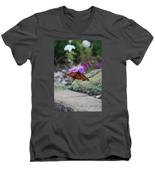 Men's V-Neck T-Shirt featuring the photograph Butterfly Garden by Ramona Whiteaker