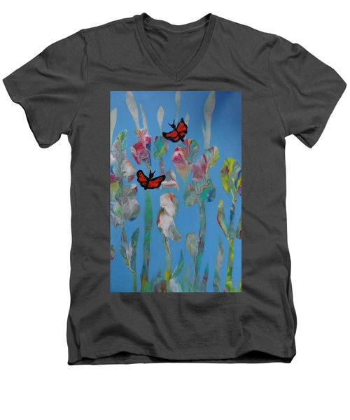 Butterfly Glads Men's V-Neck T-Shirt