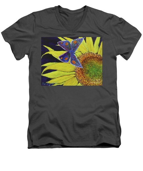 Butterfly Haven Men's V-Neck T-Shirt