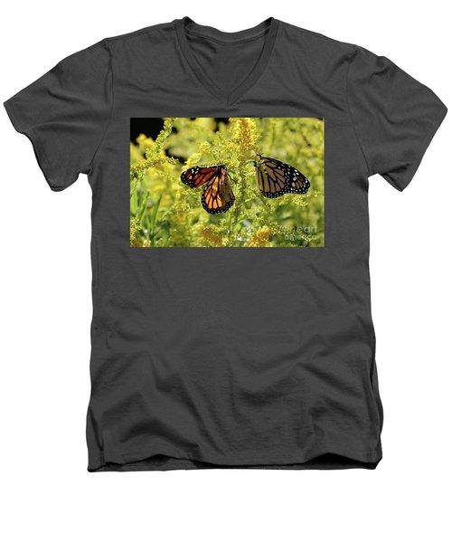 Butterfly In Fall  Men's V-Neck T-Shirt