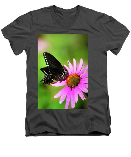 Butterfly In The Sun Men's V-Neck T-Shirt