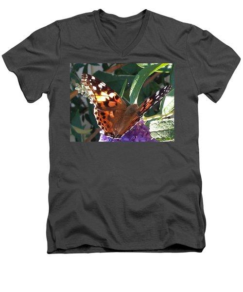 Butterfly Landing Men's V-Neck T-Shirt