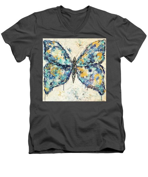 Butterfly Love Men's V-Neck T-Shirt by Kirsten Reed