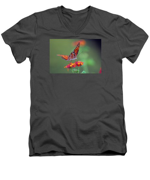 Butterfly Majestic Men's V-Neck T-Shirt