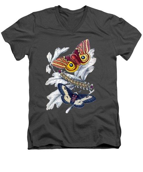 Butterfly Moth T Shirt Design Men's V-Neck T-Shirt