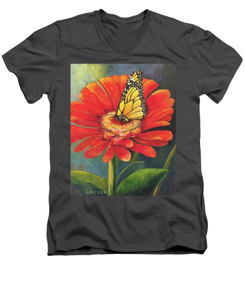 Butterfly Rest Men's V-Neck T-Shirt