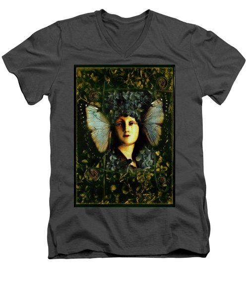 Butterfly Woman Men's V-Neck T-Shirt