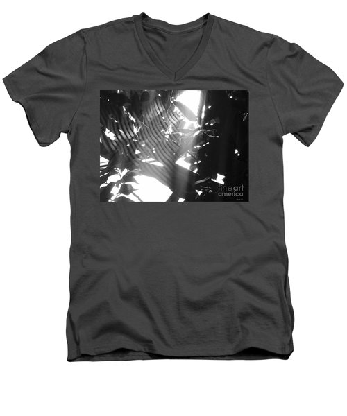 Men's V-Neck T-Shirt featuring the photograph Bw Radiance by Megan Dirsa-DuBois
