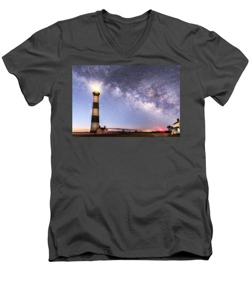 By Dawn's Early Light Men's V-Neck T-Shirt