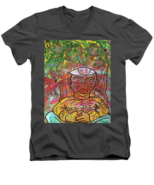 By The Bodhi Tree Men's V-Neck T-Shirt