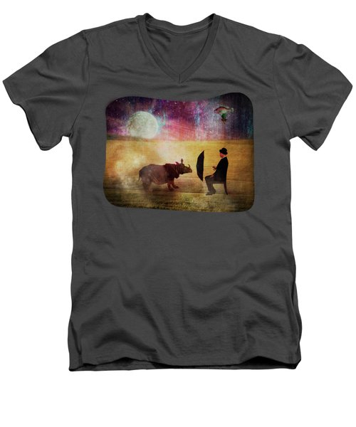 By The Light Of The Moon Men's V-Neck T-Shirt by Terry Fleckney