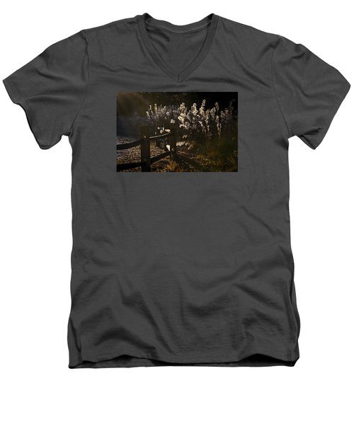 Men's V-Neck T-Shirt featuring the photograph By The Way by Steven Sparks