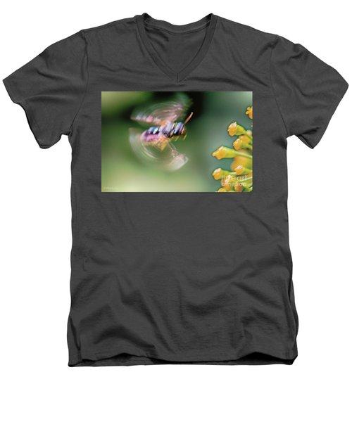 Bzzzzzzzz Men's V-Neck T-Shirt by Jivko Nakev