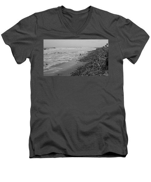 C Street Winter Men's V-Neck T-Shirt by Mark Barclay