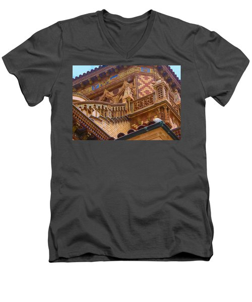 Ca' D'zan Detail Men's V-Neck T-Shirt by Susan Molnar