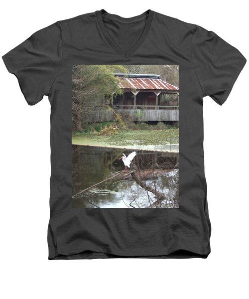 Cabin On The Bayou Men's V-Neck T-Shirt