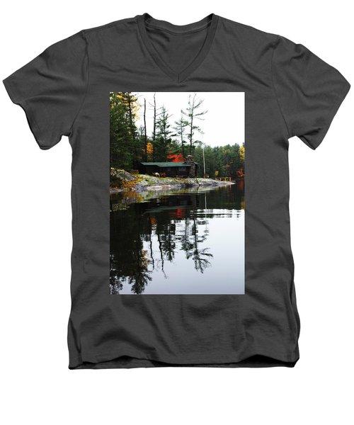 Cabin On The Rocks Men's V-Neck T-Shirt
