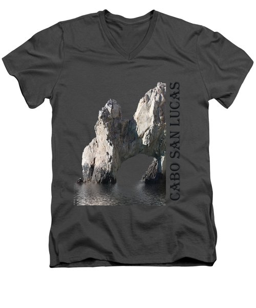 Men's V-Neck T-Shirt featuring the photograph Cabo San Lucas Archway by Shane Bechler