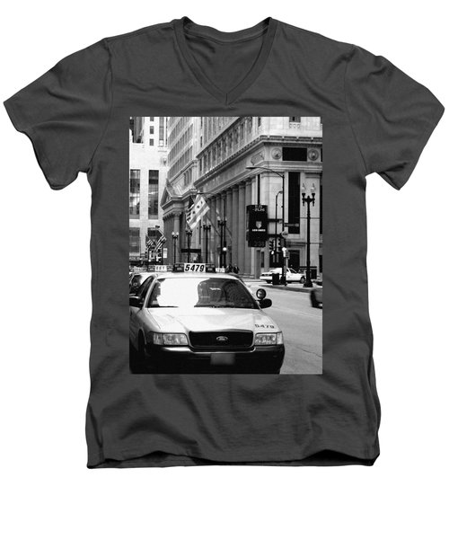 Cabs In The City Men's V-Neck T-Shirt