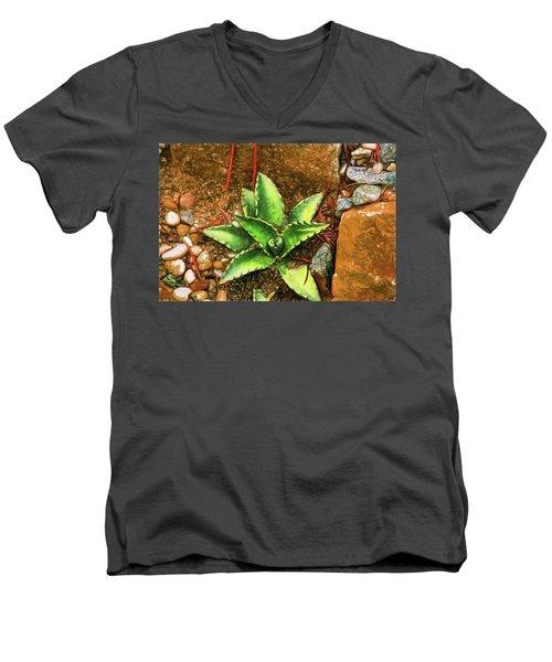 Cacti Moods In Technicolor Men's V-Neck T-Shirt