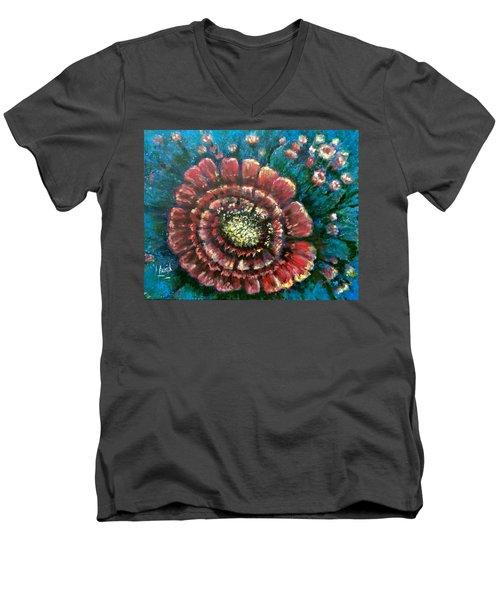 Cactus # 2 Men's V-Neck T-Shirt by Laila Awad Jamaleldin