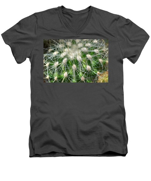 Men's V-Neck T-Shirt featuring the photograph Cactus 1 by Jim and Emily Bush