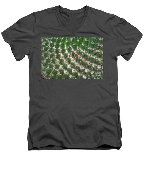 Men's V-Neck T-Shirt featuring the photograph Cactus 5 by Jim and Emily Bush