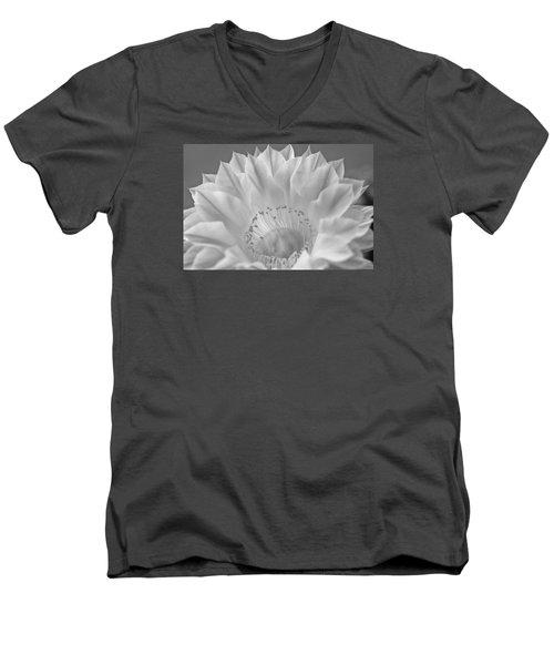 Cactus Bloom Burst Men's V-Neck T-Shirt