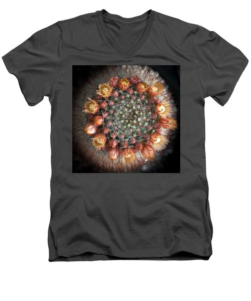 Men's V-Neck T-Shirt featuring the photograph Cactus Flowers  by Catherine Lau