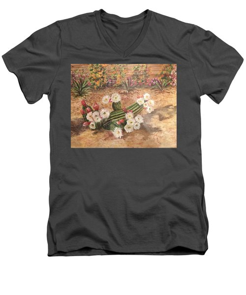 Cactus Garden Men's V-Neck T-Shirt