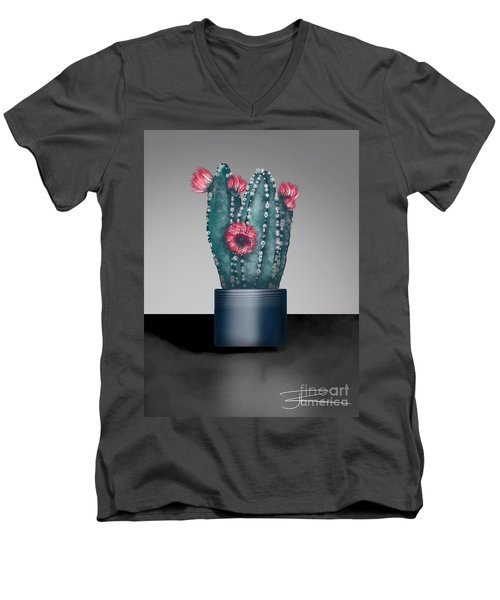 Cactus In Bloom I  Men's V-Neck T-Shirt