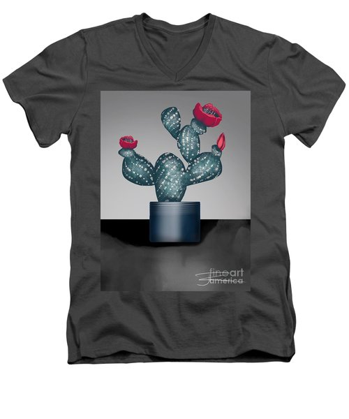 Cactus In Bloom II Men's V-Neck T-Shirt