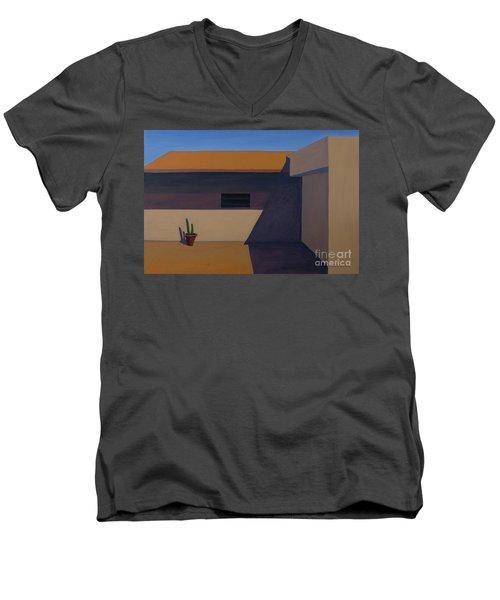 Cactus In Summer Heat Men's V-Neck T-Shirt