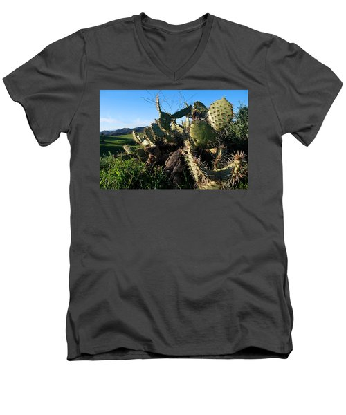 Cactus In The Mountains Men's V-Neck T-Shirt