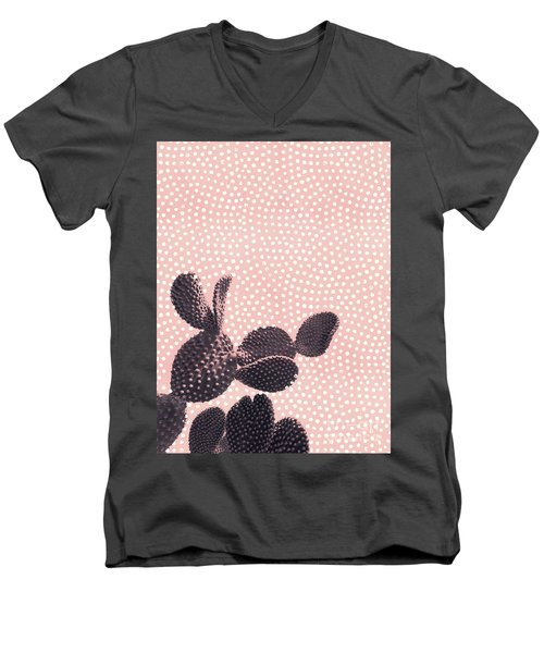 Cactus With Polka Dots Men's V-Neck T-Shirt