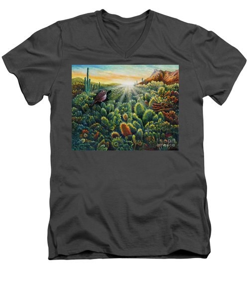 Cactus Wren Men's V-Neck T-Shirt