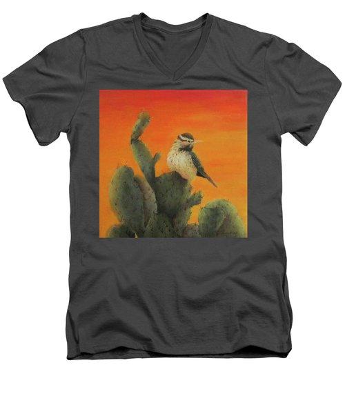 Cactus Wren Men's V-Neck T-Shirt