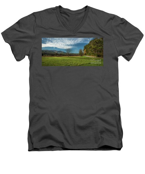 Cades Cove Tennessee Men's V-Neck T-Shirt