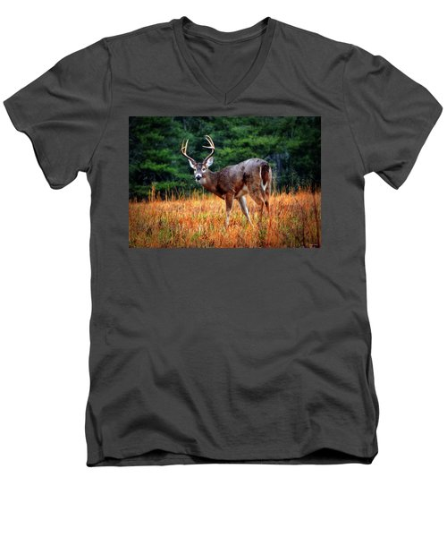 Cades Cove - The Buck Stopped Here 002 Men's V-Neck T-Shirt