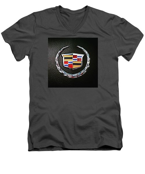 Cadillac Emblem  Men's V-Neck T-Shirt