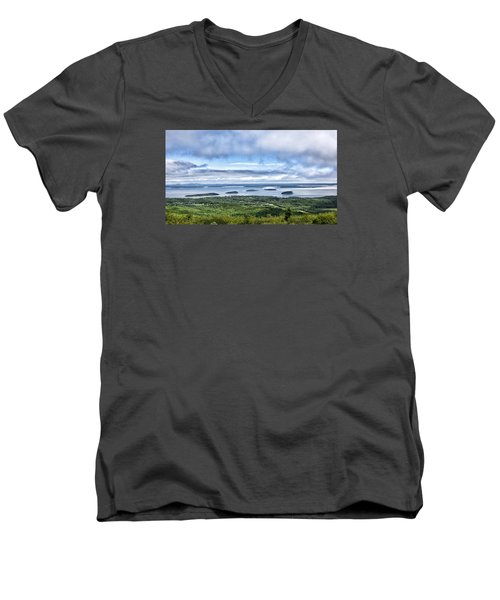 Cadillac Mountain View - Acadia National Park Men's V-Neck T-Shirt