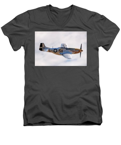 Men's V-Neck T-Shirt featuring the photograph Cadillac Of The Sky  by Jeff Cook