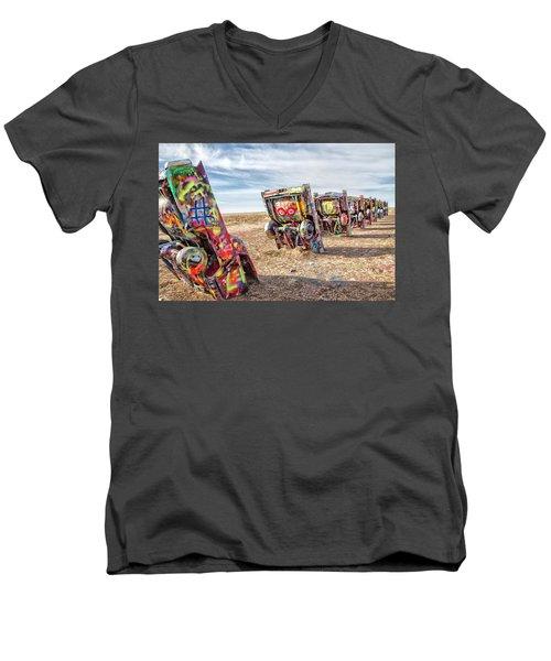 Cadillac Ranch 1 Men's V-Neck T-Shirt