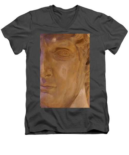 Men's V-Neck T-Shirt featuring the photograph Caesar by Cynthia Powell