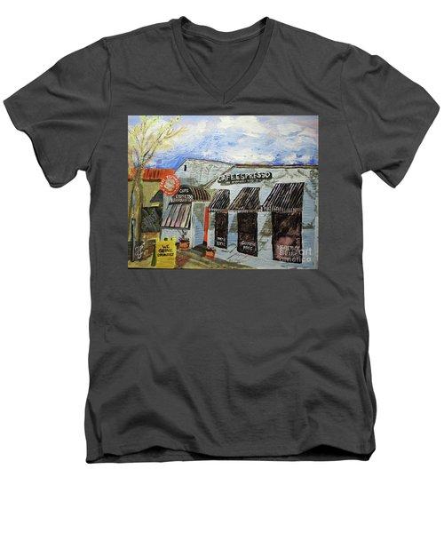 Cafe Espresso Men's V-Neck T-Shirt