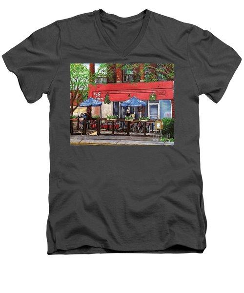 Cafe Frejus Verdun Men's V-Neck T-Shirt