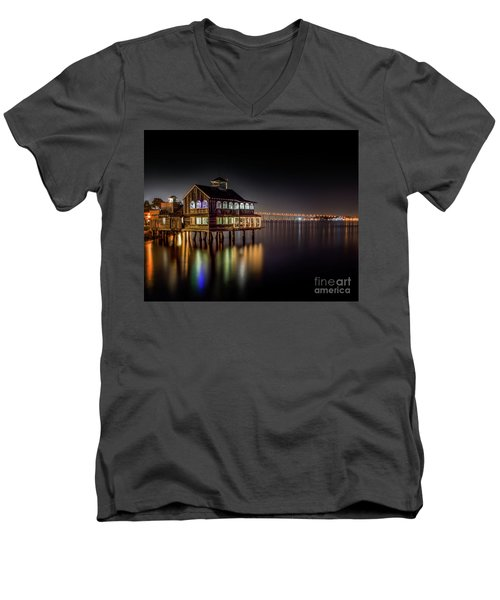 Cafe On The Port Men's V-Neck T-Shirt