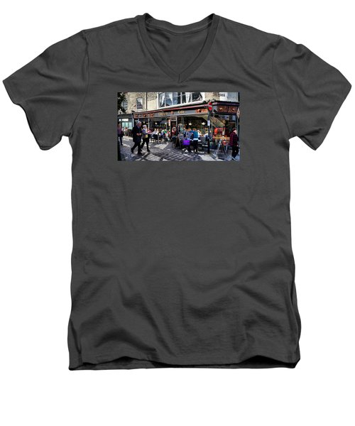 Cafe Men's V-Neck T-Shirt
